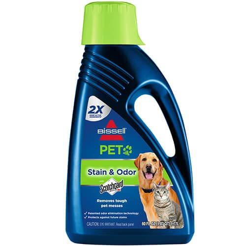 BISSELL 2X Pet Stain & Odor Full Size Machine Formula, 60 ounces, 99K5A, Pet Carpet Shampoo