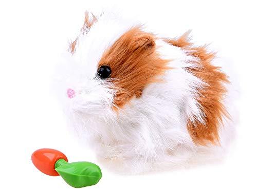 BSD Plüsch Spielzeug Stoffspielzeug Plüschtier - Interaktiv Weich Plüsch Animal Hop und Munch Carrot - Meerschweinchen