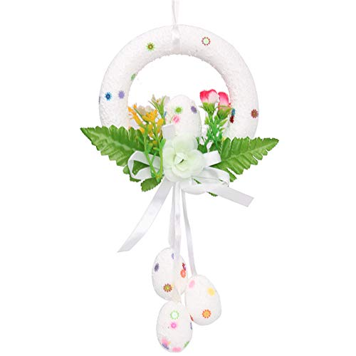 Seguire Easter Hanging Eggs Cute Rabbit Hanging Ornaments DIY Wall Hanging Games Detachable Ornaments for Home Wall Decoration Happy Easter -Egg Funny White