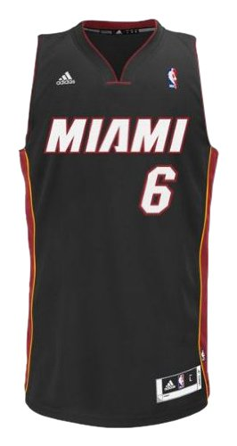 NBA Miami Heat LeBron James Swingman Jersey, White, XX-Large