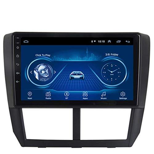 GLFDYC Android 8.1 GPS Navigation Radio TV, 9 Zoll Full Touch Screen Bildschirm Autoradio, für Subaru Forester 2008-2012, mit DAB Lenkradkontrolle Bluetooth Stereo Mirror Link,WiFi:1+16G