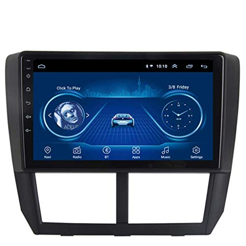 GLFDYC Android 8.1 GPS Navigation Radio TV, 9 Zoll Full Touch Screen Bildschirm Autoradio, für Subaru Forester 2008-2012, mit DAB Lenkradkontrolle Bluetooth Stereo Mirror Link,WiFi:1+16G