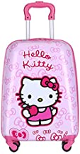 MissTiara - 18 Inch Lightweight Kid's Travel Luggage suitcase Children School Trolley bag Cartoon Rolling Bag on wheels (Kitty cat 2)