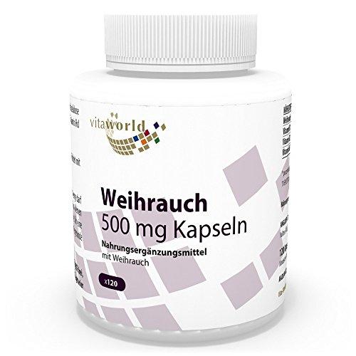 Vita World Boswellia incenso 500mg 120 Capsule Made in Germany