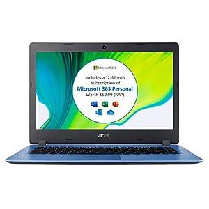 Acer Aspire 1 A114-32 14 inch Laptop (Intel Celeron N4020, 4GB RAM, Office 365 Personal, Black)