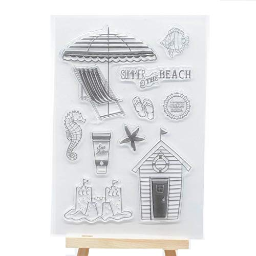 Welcome to Joyful Home 1pc Summer at The Beach Clear Stamp for Card Making Decoration and Scrapbooking