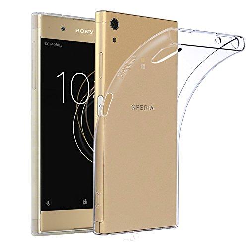 ebestStar - kompatibel mit Sony Xperia XA1 Plus Hülle XA1 Plus/Dual Handyhülle [Ultra Dünn], Premium Durchsichtige Klar TPU Schutzhülle, Soft Flex Silikon, Transparent [Phone: 155x75x8.7mm, 5.5'']