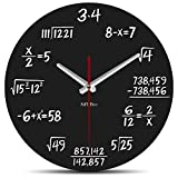 StFlyBro No Ticking Math Wall Clock Solution of Equation is Equal to Time Unique Wall Clock Mathematics Teacher Gift