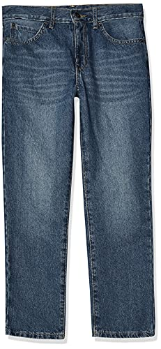 The Children's Place boys Basic Straight Leg Jeans, Carbon Wash, 8
