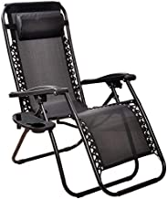 BalanceFrom Adjustable Zero Gravity Lounge Chair Recliners for Patio, Black