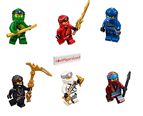 LEGO NINJAGO Legacy Minifigure Combo Pack - Lloyd, Jay, Kai, Cole, Zane, NYA (with Weapons)
