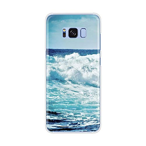 Zomer Strand Wave zee Mobiele Telefoonhoesje Cover voor Samsung Galaxy S9 S7 Edge Plus S8 S6 S5 S4 S3 Mini-in Half, forsamsungS8plus, 90174