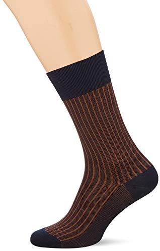 FALKE Herren Oxford Stripe Socken, lila (ink 6130), 43-44