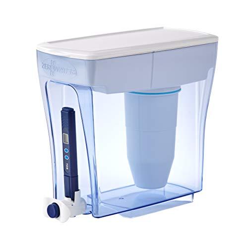 ZeroWater Dispensador de Agua Filtrada de 4,7 litros, Medidor de Calidad de Agua Gratis, Libre de BPA y Certificado para Reducir el Plomo y Otros Metales Pesados, Cartucho Filtro Incluido