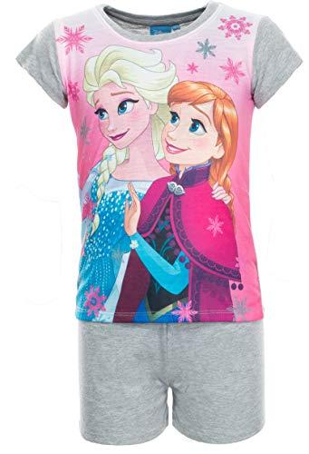 Brandsseller Mädchen Schlafanzug Frozen Die Eiskönigin Pyjama Freizeitanzug Set - Shirt und Short 116/122