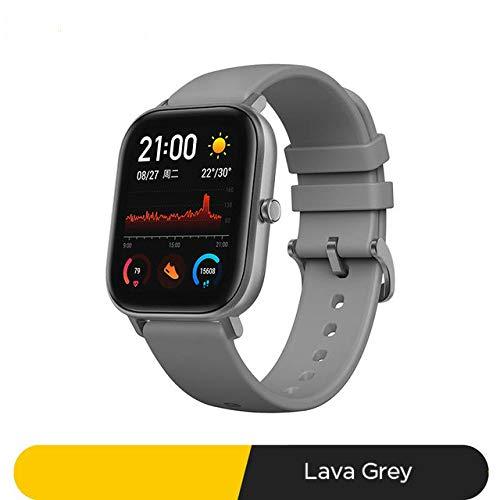 slim horloge,Smart Watch 5atm Waterproof Swimming Smartwatch 14 Dagen Batterij Muziekbediening Voor Android-telefoon a Lava grijs