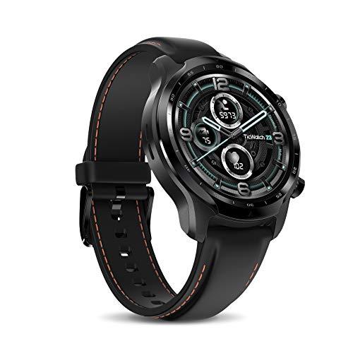 Ticwatch Pro 3 LTE Smartwatch, Mobiltelefon-Konnektivität, Wear OS von Google, 4100 Plattform, Herzfrequenz-Schlaftracking und NFC, IP68 Schwimmbereit, Lange Batterielebensdauer, Nur Vodafone