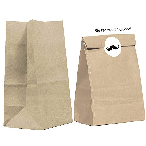 40CT Biodegradable, Premium Quality Paper (Thicker), Paper Bag, Kraft Paper Sack, Goody Bags, Treat Sacks, Perfect for Party Filled with Small Favors (Small, Brown)