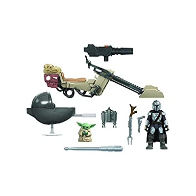 Star Wars Mission Fleet Expedition Class The Mandalorian The Child Battle for the Bounty 6-cm-Scale Figures and Vehicle, Children Aged 4 and Up from Hasbro