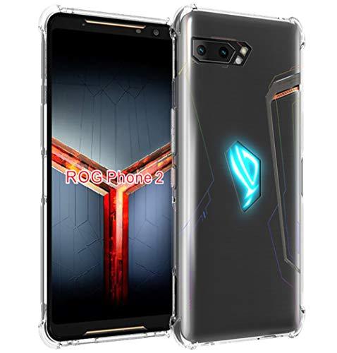 MARR TPU Schutzhülle Kompatibel mit ASUS ROG Phone II Hülle Klar Crystal Durchsichtige Flexibel Silikon Handyhülle für ASUS ROG Phone 2 ZS660KL - Transparent