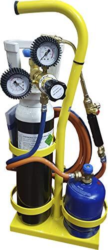 Equipo de soldadura autógena soplete Mini gas Butano y Oxígeno STS-FGR-300