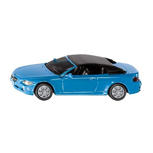 SIKU 1007, BMW 645i Cabrio, Metall/Kunststoff, Blau, Spielzeugauto für Kinder, Abnehmbares Verdeck