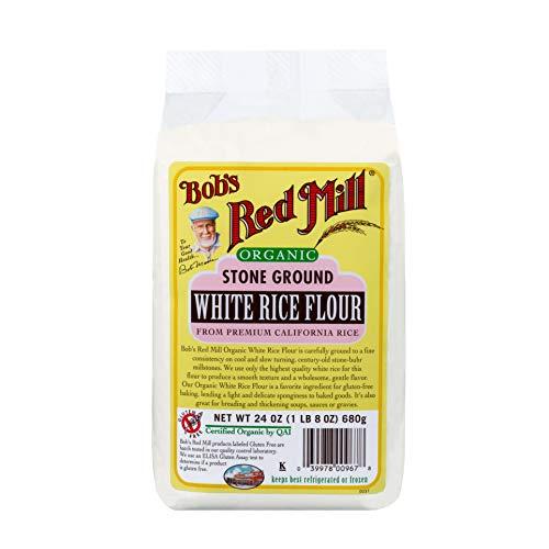 Bob´s Red Mill, Bob´s Red Mill, Harina de arroz blanco orgánico sin gluten, 680g, 680 gramos