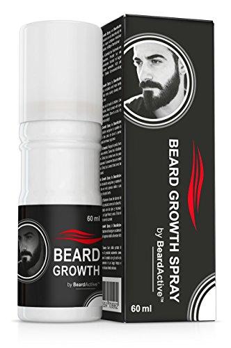 Beard Growth Spray by BeardActive – 60 ml Bartwuchsmittel für Männer - hilft, den natürlichen...