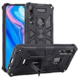 Wangl Huawei Cases for Huawei Y9 Prime (2019) Shockproof TPU + PC Magnetic Protective Case with Holder Huawei Cases (Color : Black)