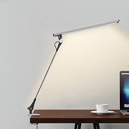 Lámpara de Escritorio, JOLY JOY Lámpara LED de Mesa 12W [Luz Regulable + 5 Modos de Color + 5 Niveles de Brillo + Tecnología de Protección de Ojos] Lámpara Clip para Estudia Lectura Trabajo Oficina