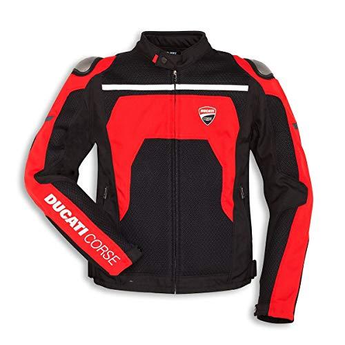 Ducati Corse Summer C2 Motorradjacke Textil Jacke Air Mesh luftig schwarz rot 50