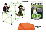 make your own tent - Crazy Forts Combo Fort Bundle Set - Complete Play Purple 69 Pieces & Fort Lights & Cover Sheet!