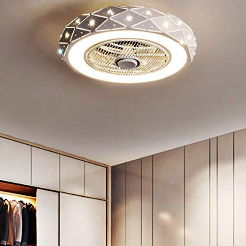 Luz de techo de ventilador de LED creativo moderno, con control remoto Luces de ventilador silencioso regulables Lámparas de dormitorio Sala de estar Kindergarten Oficina Habitación para niños Techo