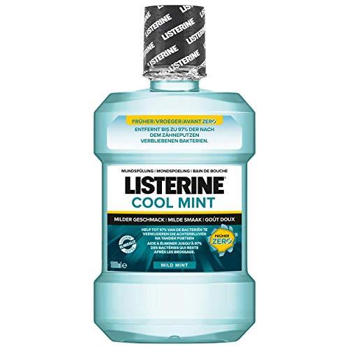 Listerine Cool Mint MILD MINT Mundspülung 1000ml mit Spenderpumpe, 6er Pack (6x 1L)