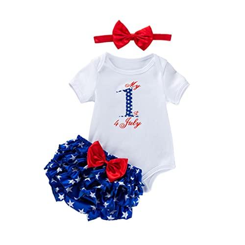 VALICLUD Il Mio Primo 4Th of July USA Americano del Bambino Vestito di Estate Manica Corta Vestiti di Cotone