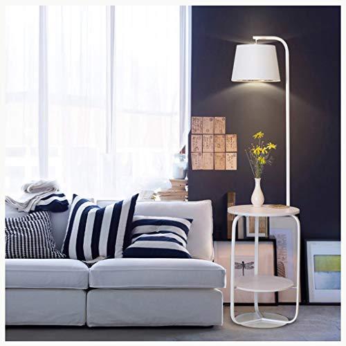QTDH LED-lamp met zwanenhals, met plank van hout, USB-aansluiting voor de tafel, hoge verlichting voor woonkamer, slaapkamer