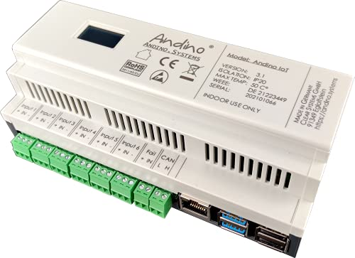 Industrial Raspberry Pi 4 PC mit 4G-Modem, RS485, RS232, CAN-Bus, 6 digitalen Eingängen, 3 Relays, RTC – Andino IO