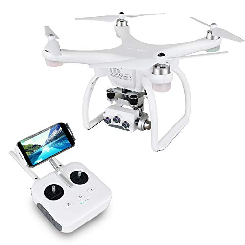UPair Drohne mit 4K HD Kamera, RC Quadcopter 5.8G FPV Liveübertragung mit 120° Aufnahmewinkel, GPS/Optisches Flusspositionierungssystem, Flugplananpassung, One Key Return, Ideal für Anfänger