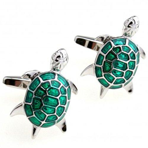 Hosaire Herren Manschettenknöpfe Cufflinks Kreative Grüne Schildkröte Modellieren Männer Elegant Hochzeit Manschettenknopf Hemd Manschettenknöpfe