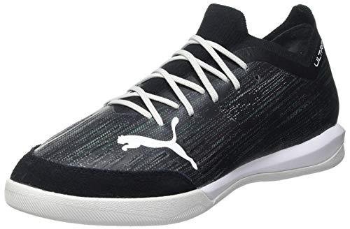 PUMA Herren Ultra 1.2 PRO Court Futsal-Schuh, Black Glacier Gray Elektro Green Elektro Pool, 47 EU