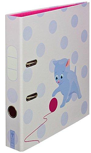 """Ordner Motiv """"Stubentiger"""" schmal   für Kinder & Mädchen   DIN A4   ca. 5 cm breit   Motivordner mit Katzen-Motiv, blau - Schreibgefühl®"""