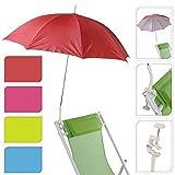 Sombrilla con protección UV, para jardín, terraza, balcón, playa, con tornillos y...
