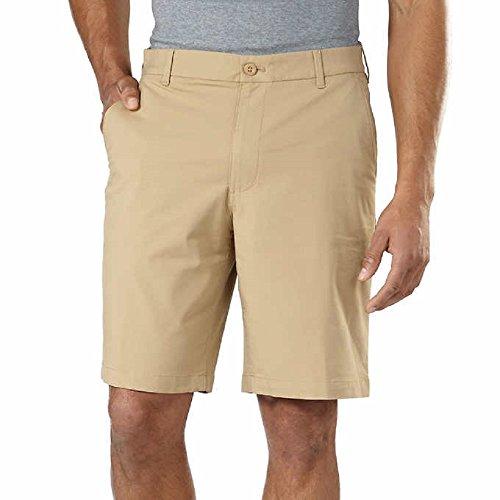 Izod Men's Performance Athletic Short Choose Size & Color (40, Tan)