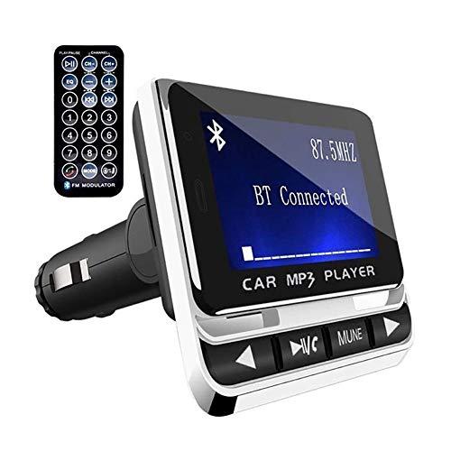 WYYHAA Transmisor FM Bluetooth, Bluetooth del Coche FM Transmisor De Radio USB Bluetooth Manos Libres Kit De Coche Reproductor De Música MP3 con Cargador De Coche De Control Remoto
