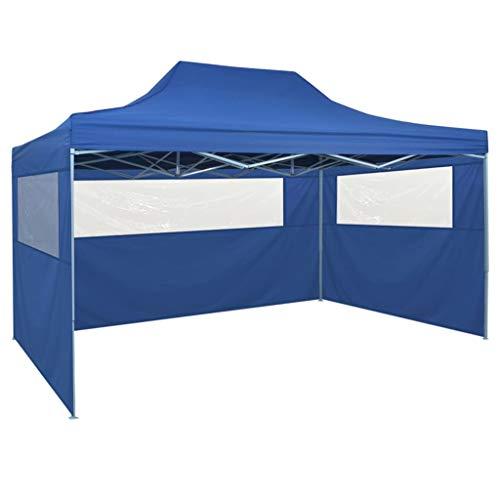 Tienda de campaña plegable para fiestas, toldo de boda con 4 paredes laterales protección UV impermeable, para fiesta, patio picnic, camping, blanco