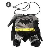 popchilli Ropa de Halloween para Perros Batman Cosplay Disfraz de Mascota Disfraz Divertido para Perros y Gatos Halloween