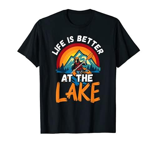 Kayak Kayak Remando La Vida Es Mejor En El Lago Camiseta