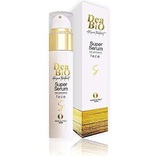 Super Serum Facial 50 ml - con Vitamina C y Ácido Hialurónico, Aloe Vera Puro, Vitamina E, Bergamota. Excepcional tratamiento antiedad , ideal para Gua Sha.