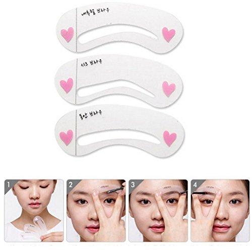 Demarkt Augenbrauen Schablone Augenbraue Pflege Gestaltung Vorlage Make-up Schönheit Werkzeug 3 Stück verschiedene Formen