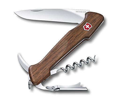 Victorinox, coltellino svizzero Wine Master (6 funzioni, cavatappi, apriscatole), in legno di noce